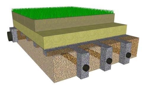 Instalación de red de drenaje